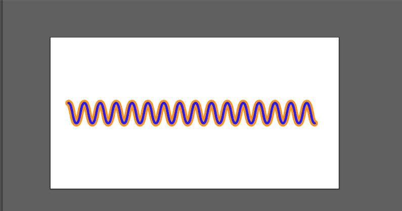 縁のある波線