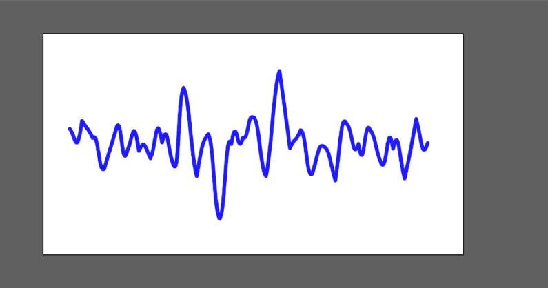 心電図っぽい線