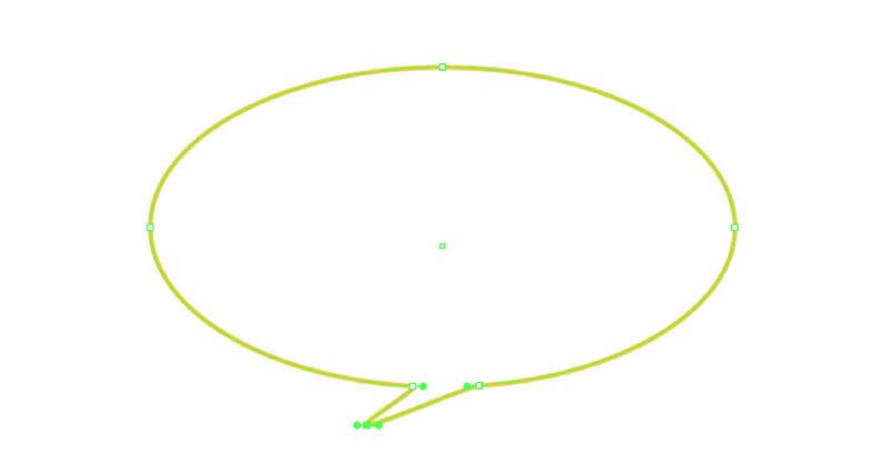 楕円形の吹き出しが作成