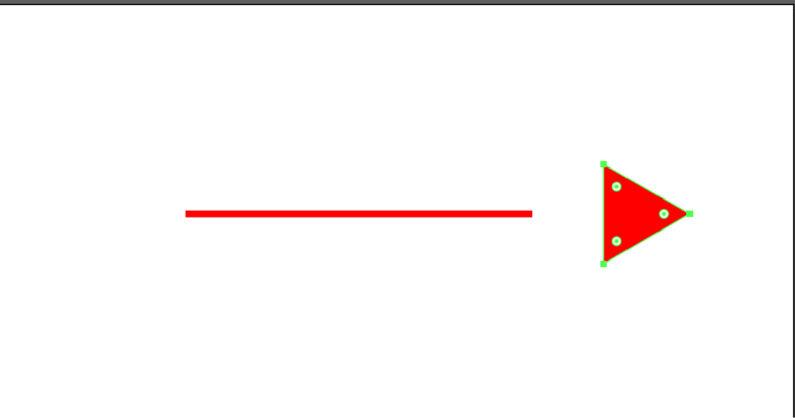 矢印を分割することができた