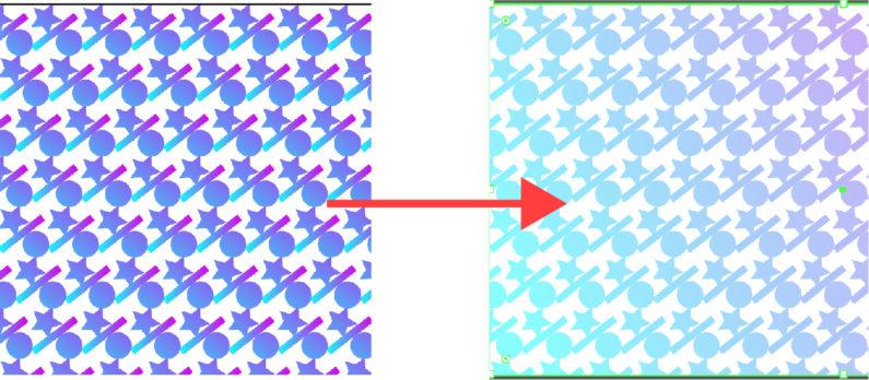 パターンにグラデーションをかける