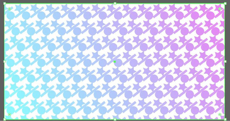 パターンにグラデーションをかけることができた
