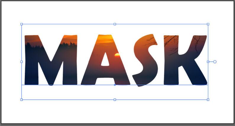 クリッピングマスクが作成