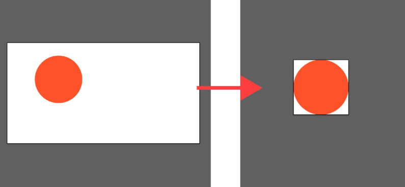 オブジェクトの大きさにアートボードのサイズを合わせる