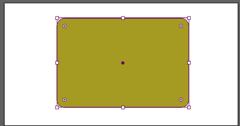 長方形を角丸にすることができる