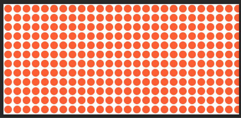 一番簡単なドット柄のパターン