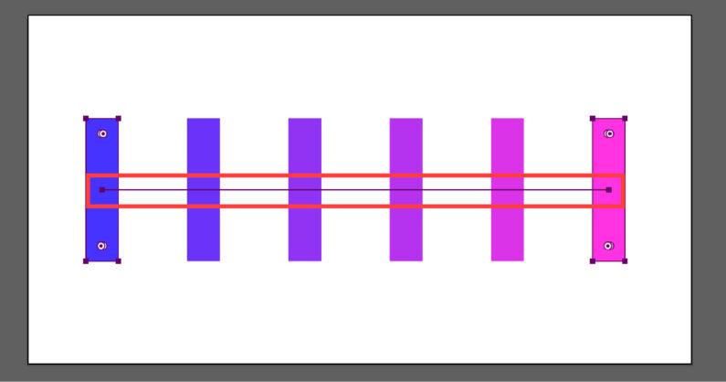 直線のパスも一緒に作成される